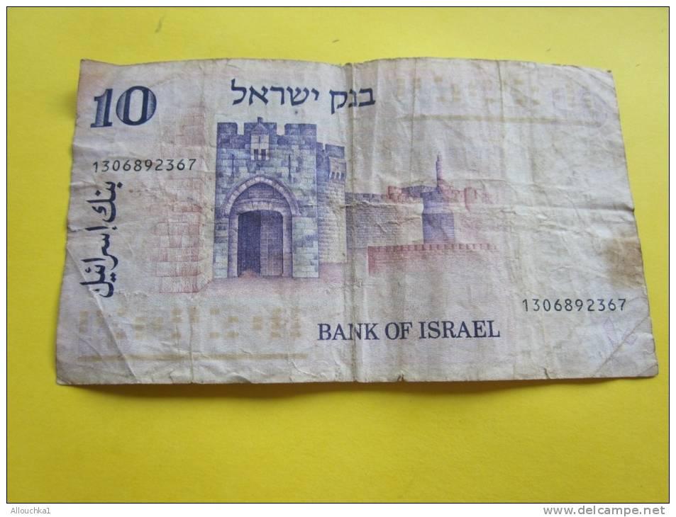 Billet De Banque Banque D'Israël BANK Of Israël 10 Shekels Ten Shekels - Israel