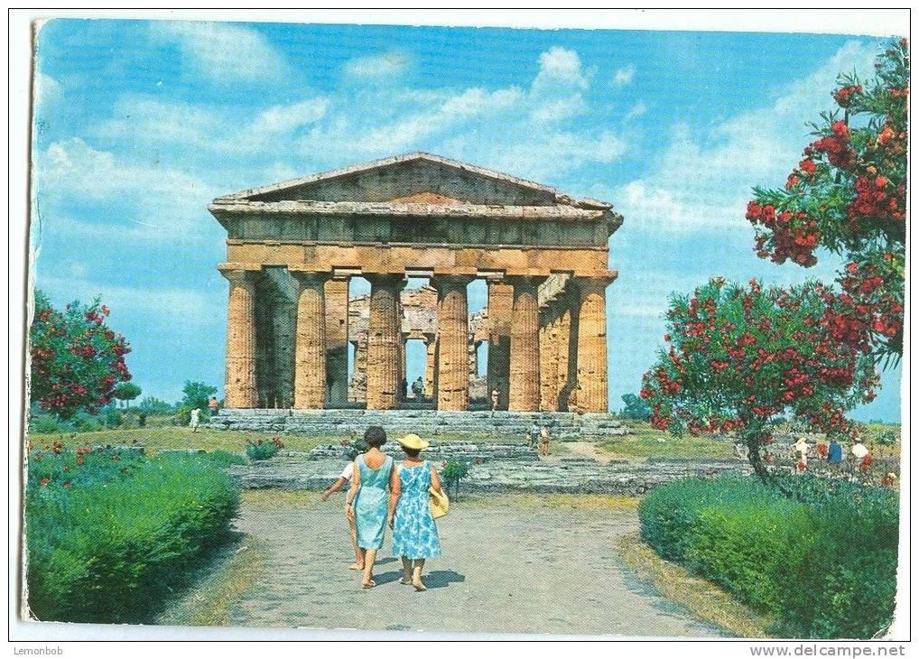 Italy, Paestum, Tempio Di Nettuno, 1967 Used Postcard [P9745] - Salerno