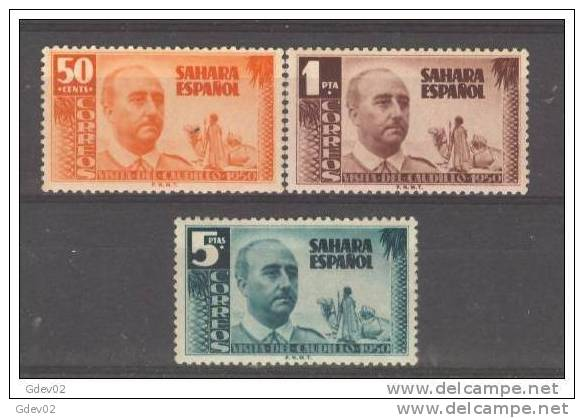 SHR88-L22992TAN.Maroc. Marocco.SAHARA ESPAÑOL.General FRANCO.1951. (Ed 88/90**)sin Charnela.MUY BONITOS - 1951-60 Nuevos & Fijasellos