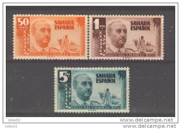 SHR88-22992TAMO.Maroc  .Marocco.Camello.SAHARA  ESPAÑOL.FRANCO.1951. (Ed 88/90**)sin Charnela.MUY BONITOS - Sellos