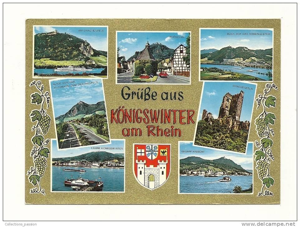 Cp, Allemagne, Königswinter, Multi-Vues, écrite - Koenigswinter