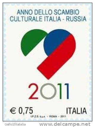 2011 - ITALIA - ANNO DELLO SCAMBIO CULTURALE - EMISSIONE CONGIUNTA CON RUSSIA. MNH - Emissioni Congiunte