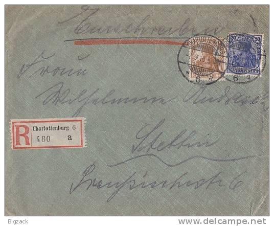 DR R-Brief Mif Minr.87II,100 Charlottenburg 2.9.18 - Deutschland