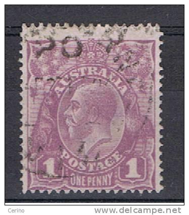 AUSTRALIA:  1914/23  GIORGIO  V° -  1 P. VIOLETTO  US. -  FIL. A  III° TIPO -  YV/TELL. 21 - Used Stamps