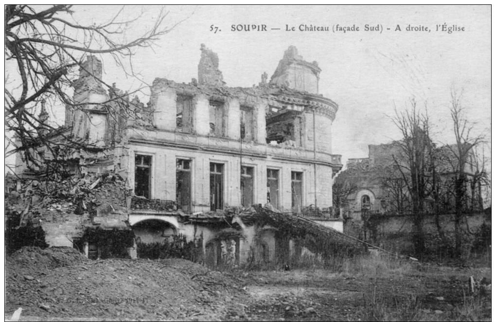 Soupir, Le Chateau, Façade Sud - France
