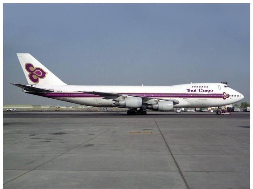 Boeing 747 100/200 Aviation, Transport, Airplane Postcard - 1946-....: Era Moderna