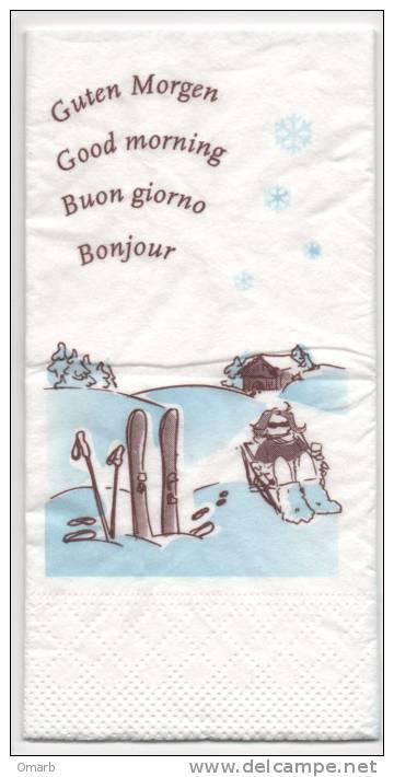Alt091tovagliolo Di Carta, Neve, Montagna, Sci, Rifugio, Serviette Papier, Neige, Ski, Montagne, Refuge, Snow, Mountain - Tovaglioli Bar-caffè-ristoranti