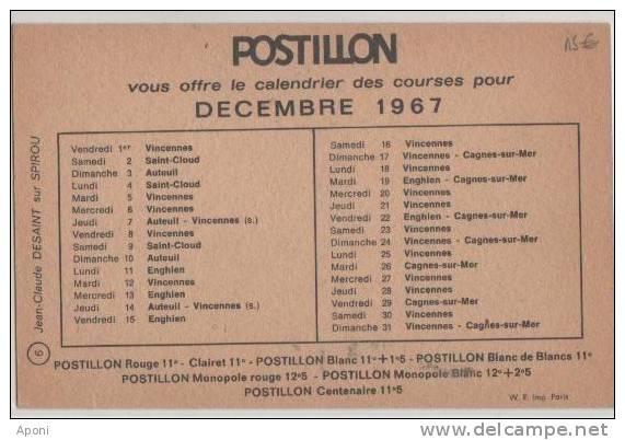 .POSTILLON ( PMU ) - Cartes Postales