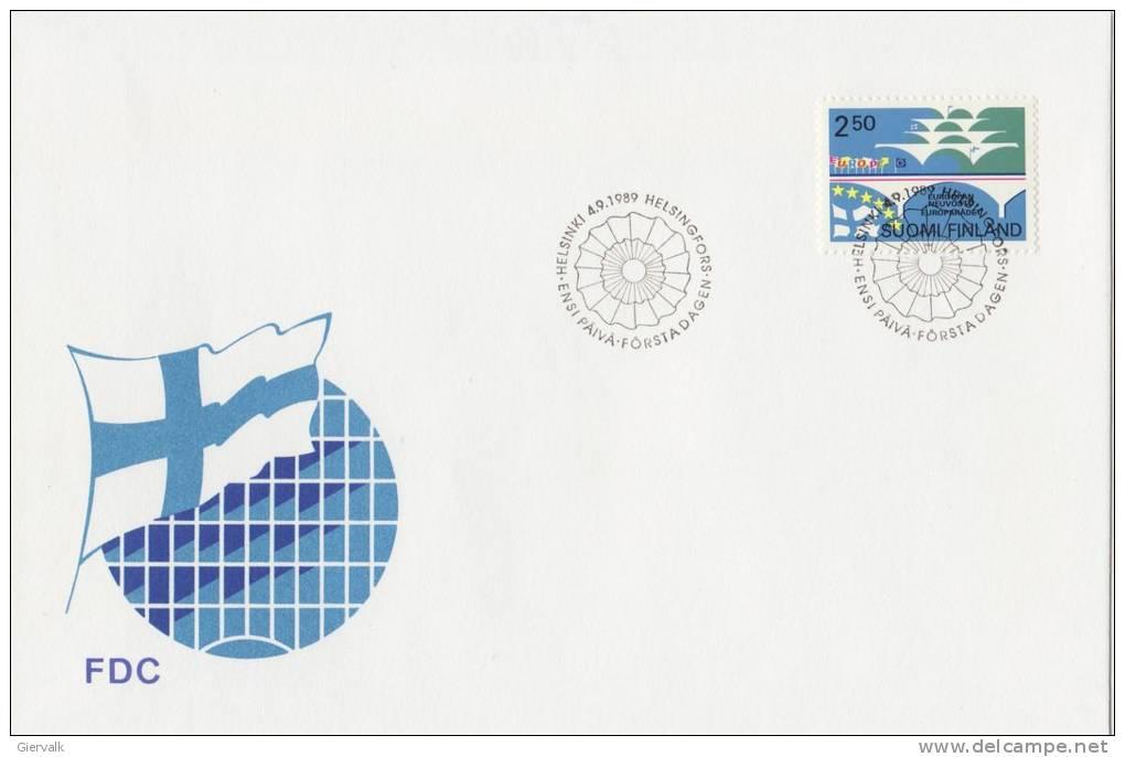 FINLAND 1989 FDC With Bridge. - FDC