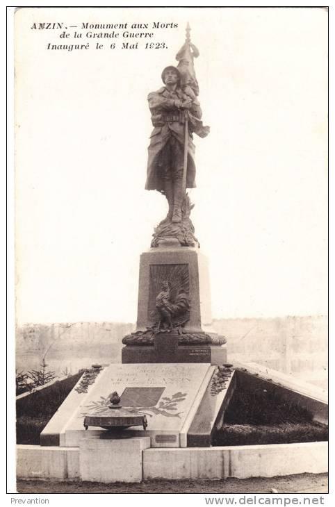 ANZIN - Monument Aux Morts De La Grande Guerre - Inauguré Le 6 Mai 1923 - Anzin
