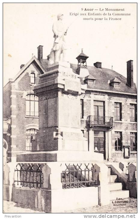 ANOR - Le Monument Erigé Aux Enfants De La Commune Morts Pour La France - Superbe Carte - Avesnes Sur Helpe