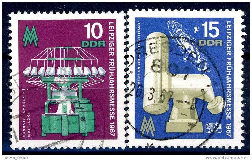 DDR - Michel 1254 / 1255 - OO Gestempelt (A) - 10-15Pf   Leipziger Frühjahrsmesse 67 - [6] République Démocratique