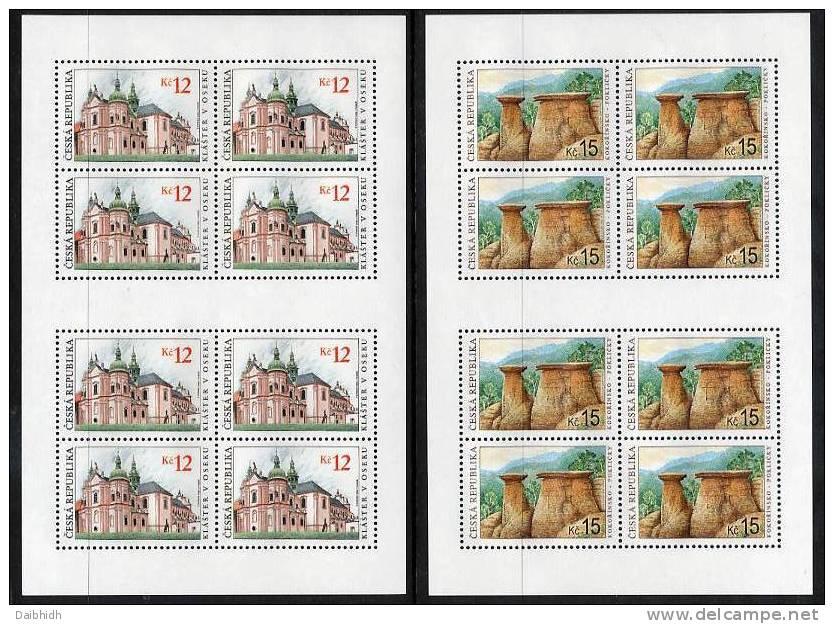 CZECH REPUBLIC 2006 World Heritage Sites Sheetlets MNH / **.  Michel 469-70 - Blocks & Sheetlets