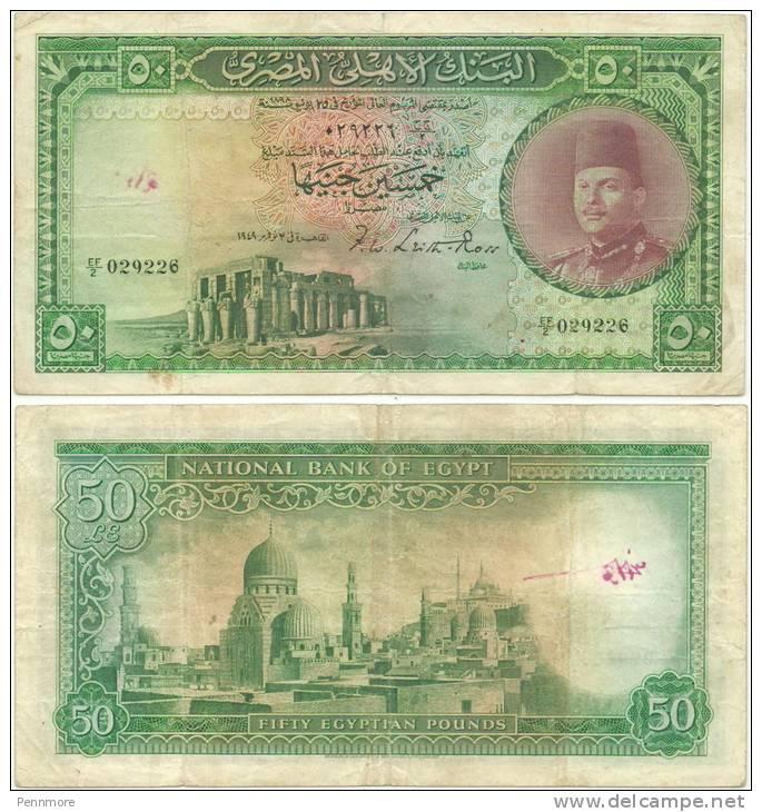 EGYPT 10 POUNDS P 51 SIGN 19 UNC