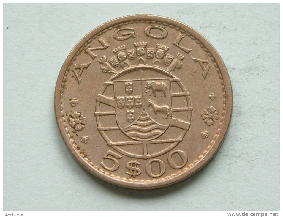 1972 - 5 ESCUDOS / KM 81 ( Uncleaned Coin / For Grade, Please See Photo ) !! - Angola