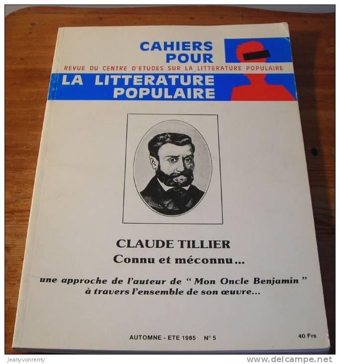 Cahiers Pour La Littérature Populaire - N°5 - Eté 1985. - Autres