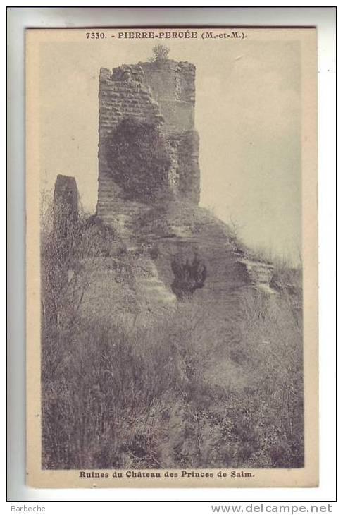 54.-  PIERRE PERCEE .- Ruines Du Château Des Princes  De Salm - Francia
