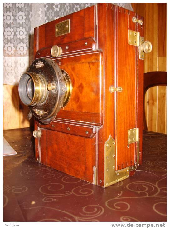 Chambre photographique en acajou avec tr pied obturateur for Chambre photographique