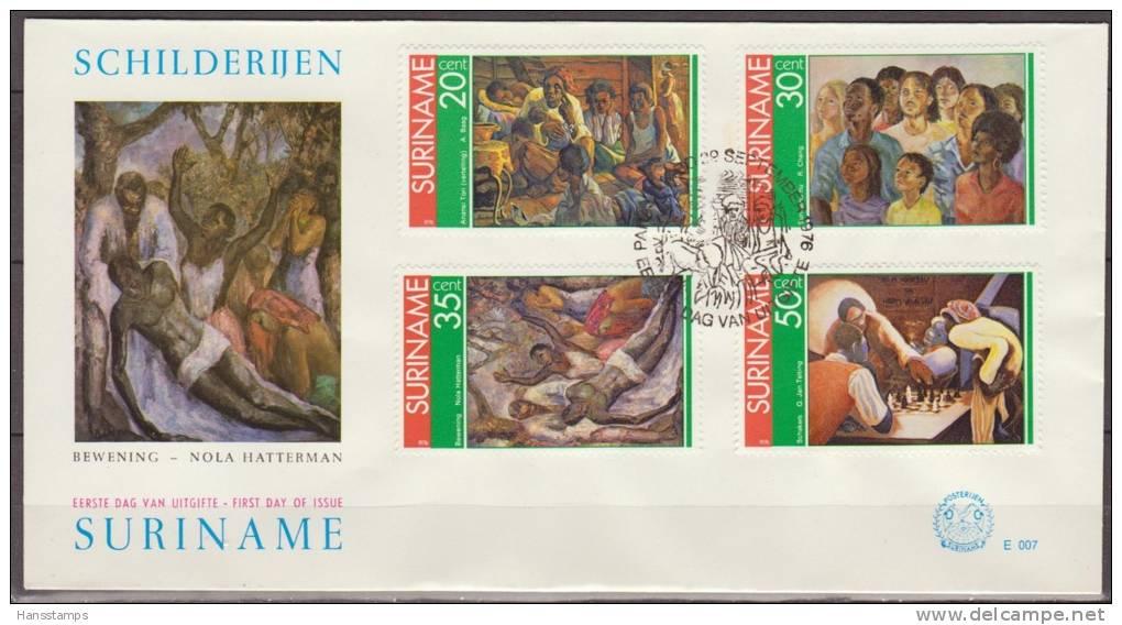 Suriname, 1976, Paintings Of Nola Hatterman, E007, FDC - Kunst