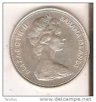 MONEDA DE PLATA DE BAHAMAS DE 50 CENTS DEL AÑO 1966  (COIN) SILVER-ARGENT - Bahamas