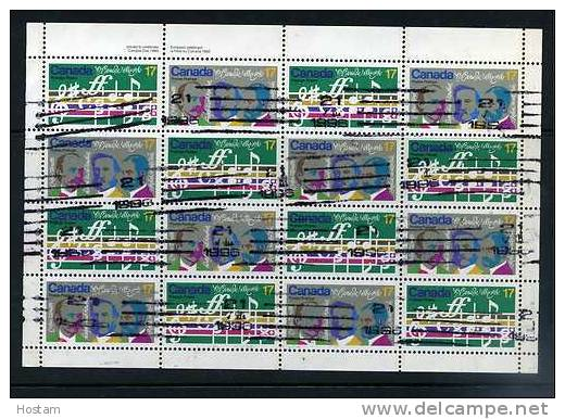 CANADA, 1980, # 858a, USED, O CANADA CENTENARY, Has A Little Split In Middle Bottom Salvage And 1-2 Teeth - Feuilles Complètes Et Multiples