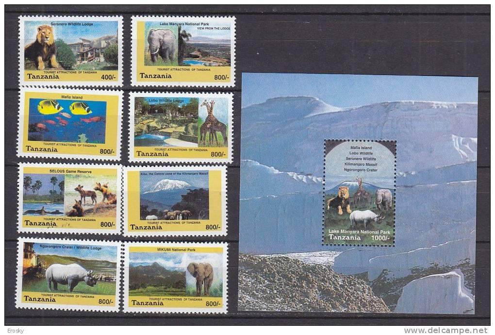 PGL AA0613 - TANZANIA Yv N°3106/13 + BF ** ANIMAUX ANIMALS - Tanzania (1964-...)