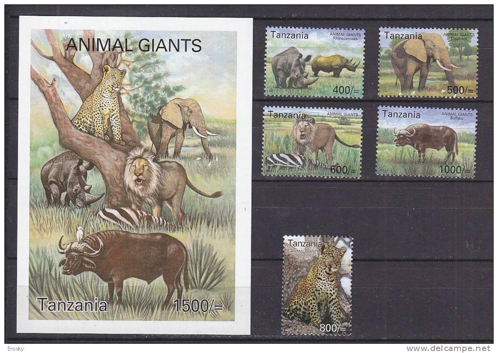 PGL AA0590 - TANZANIA Yv N°3193/97 + BF ** ANIMAUX ANIMALS - Tanzania (1964-...)