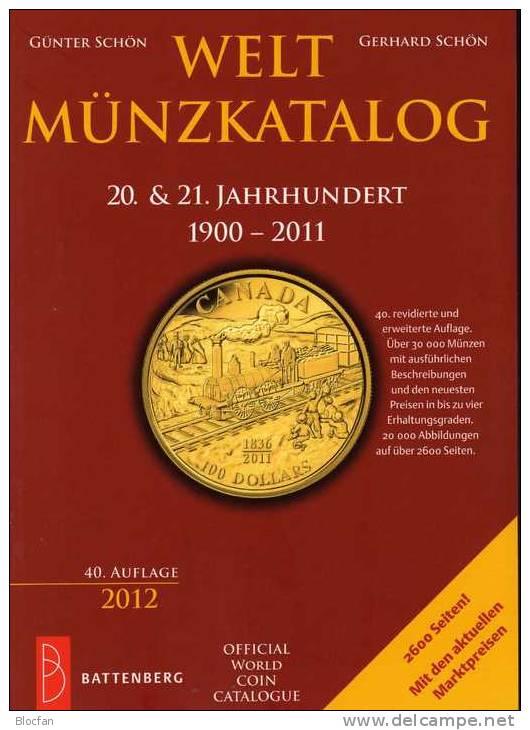 Weltmünz-Katalog 2012 Neu 50€ Münzen 20/21.Jahrhundert A-Z Schön Coins Of The World Europa Amerika Afrika Asien Oceanien - Creative Hobbies