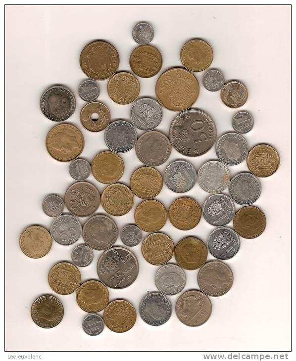 Lot De Monnaie En Vrac /ESPAGNE/50piéces/20 éme Siécle      BIL15 - Kilowaar - Munten
