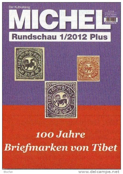 MICHEL Briefmarken Rundschau 1 Plus /2012 Neu 5€ New Stamps Of The World Catalogue And Magacine Of Germany - Hobby & Sammeln