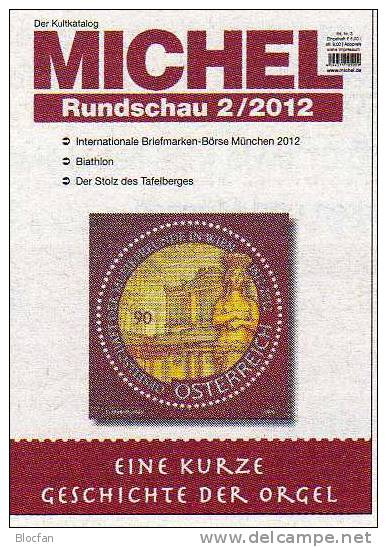MICHEL Briefmarken Rundschau 2/2012 Neu 5€ New Stamps Of The World Catalogue And Magacine Of Germany - Hobbies & Collections