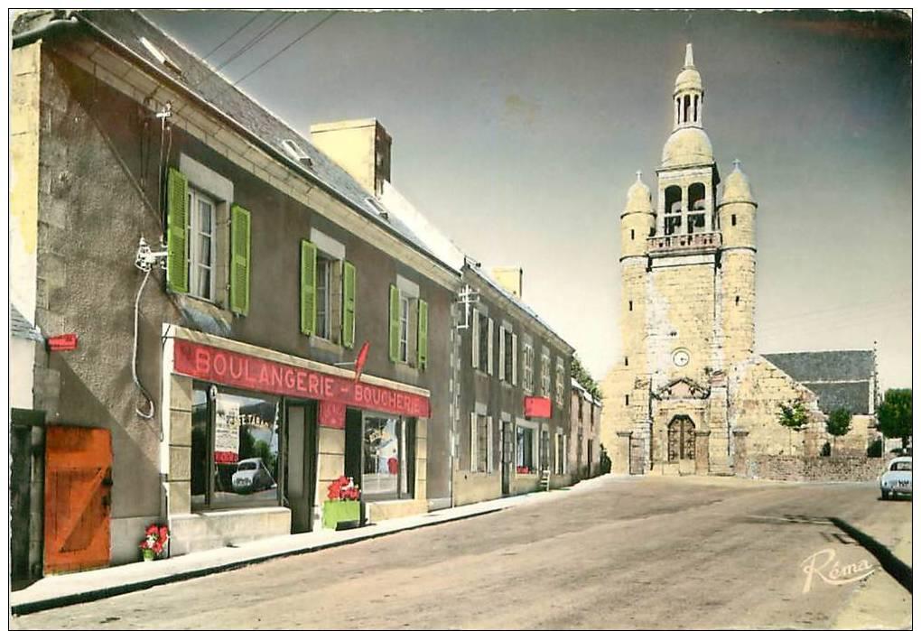 Le bourg en cartes postales