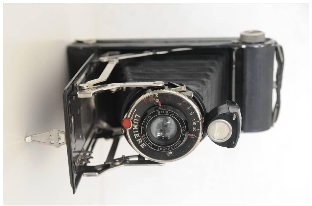ancien appareil photo argentique soufflet lumi re boitier 6 cm par 18 cm anastignat macor f. Black Bedroom Furniture Sets. Home Design Ideas