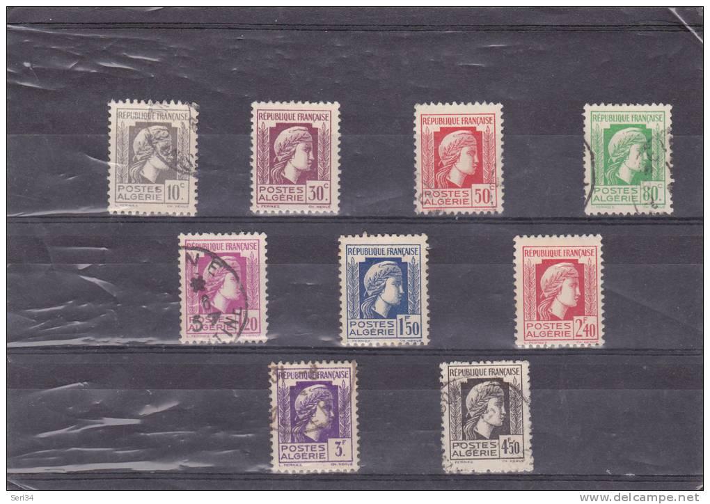 ALGERIE :  : O : Y&T :209 à 217 - Algérie (1924-1962)