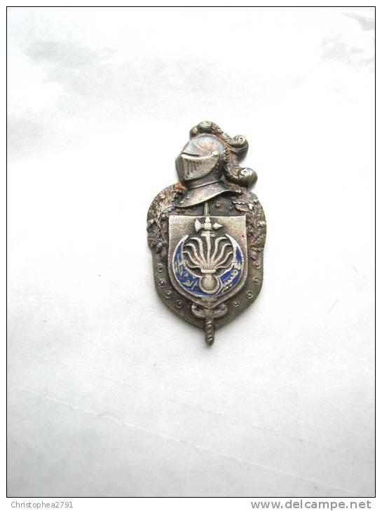 ANCIEN INSIGNE DE BOUTONNIERE EMAILLE GENDARMERIE DEPARTEMENTALE LA 10° LEGION ALGER - Militaria