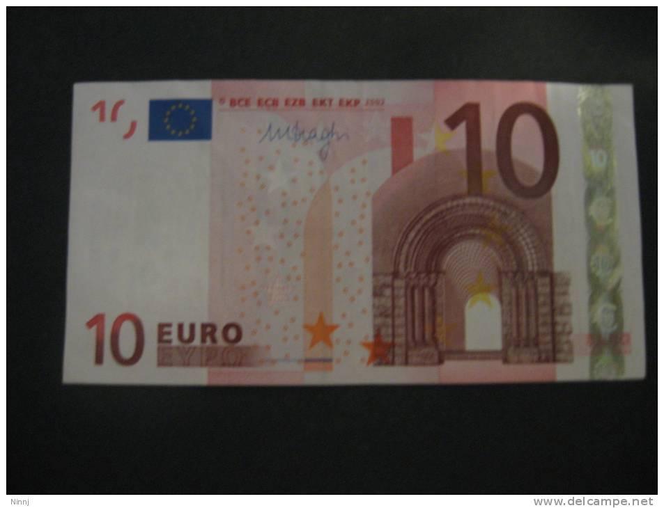 Germania  €. 10 M. Draghi  - P016B5 - Serie X703-------- Circolata - EURO