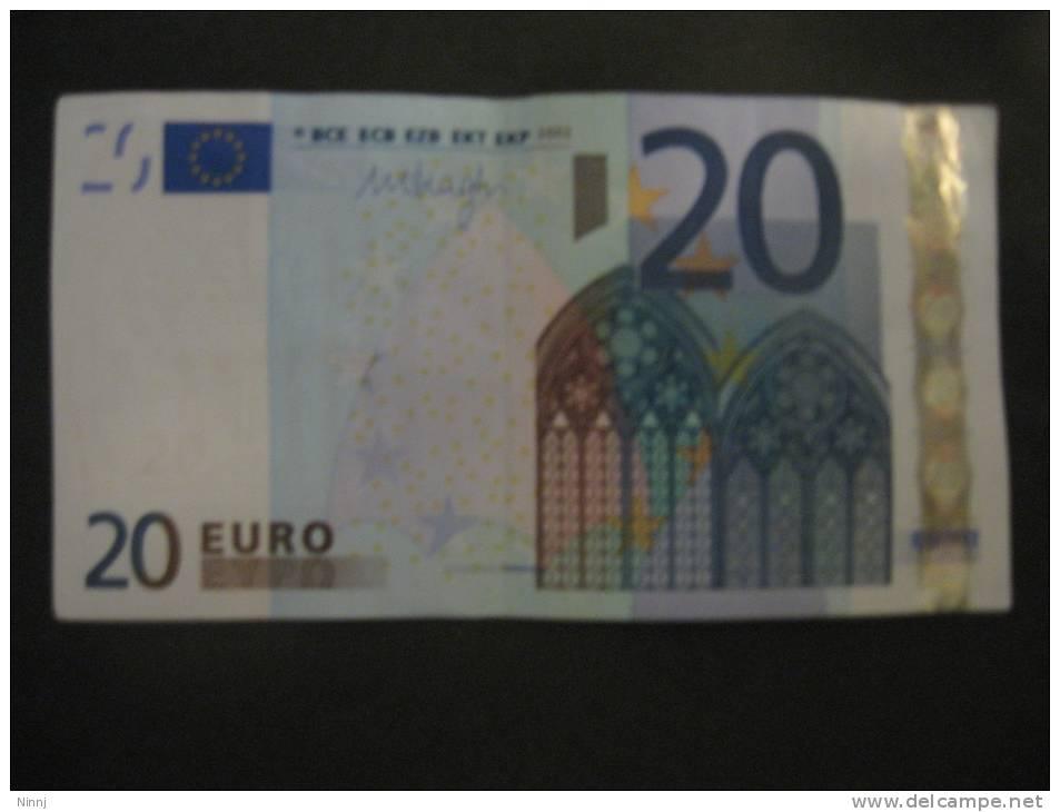 Italia 2002  €. 20 M. Draghi  J029A6 - Serie S305-------- Circolata - EURO