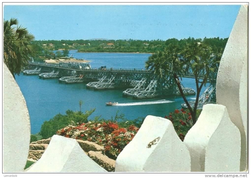 Kenya, Mombasa, Nyali Bridge, 1976 Used Postcard [10085] - Kenya