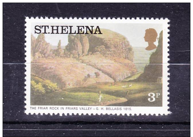 SAINT  HELENA  ISLAND    1976  , Paintings - Landscapes   ,  3 P   ,  Y&T 285   , Cv 0,15 E ., ** M N H , V V F - Isola Di Sant'Elena