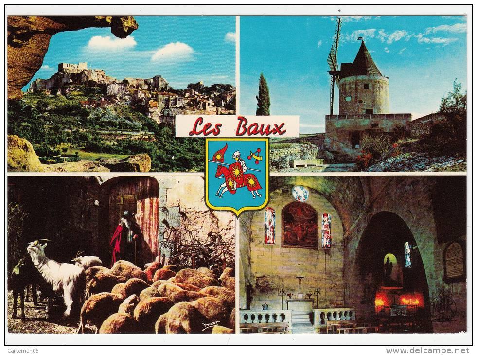 13 - Les Baux De Provence - Vue D'ensemble - Le Moulin De Daudet -Vieux Berger -Eglise St Vincent - Editeur: MAR N° 1163 - Les-Baux-de-Provence