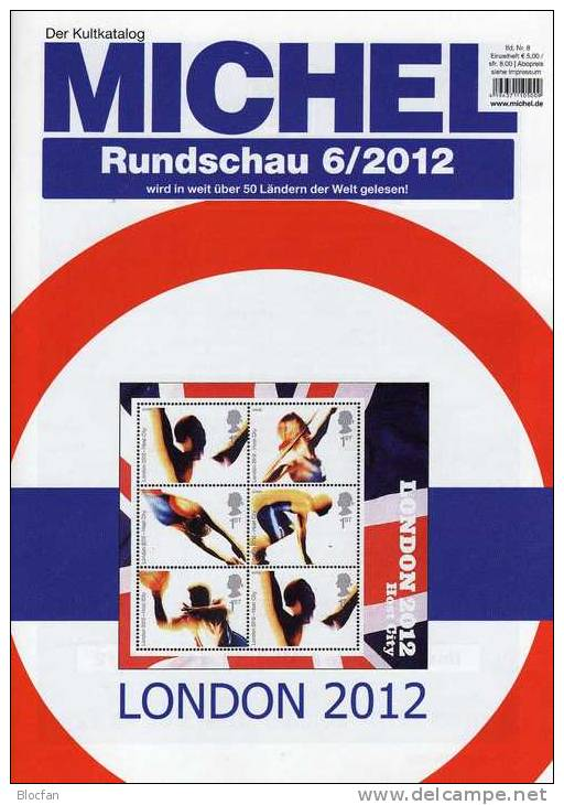 MICHEL Briefmarken Rundschau 6/2012 Neu 5€ New Stamps Of The World Catalogue And Magacine Of Germany - Loisirs & Collections