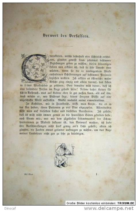 GESCHICHTE Des GIL BLAS, Erstes - Sechstes Heft (Komplett), **1839**, Mit 600 Gedruckten Feinen Holzstichen, 888 Seiten - Libri Vecchi E Da Collezione