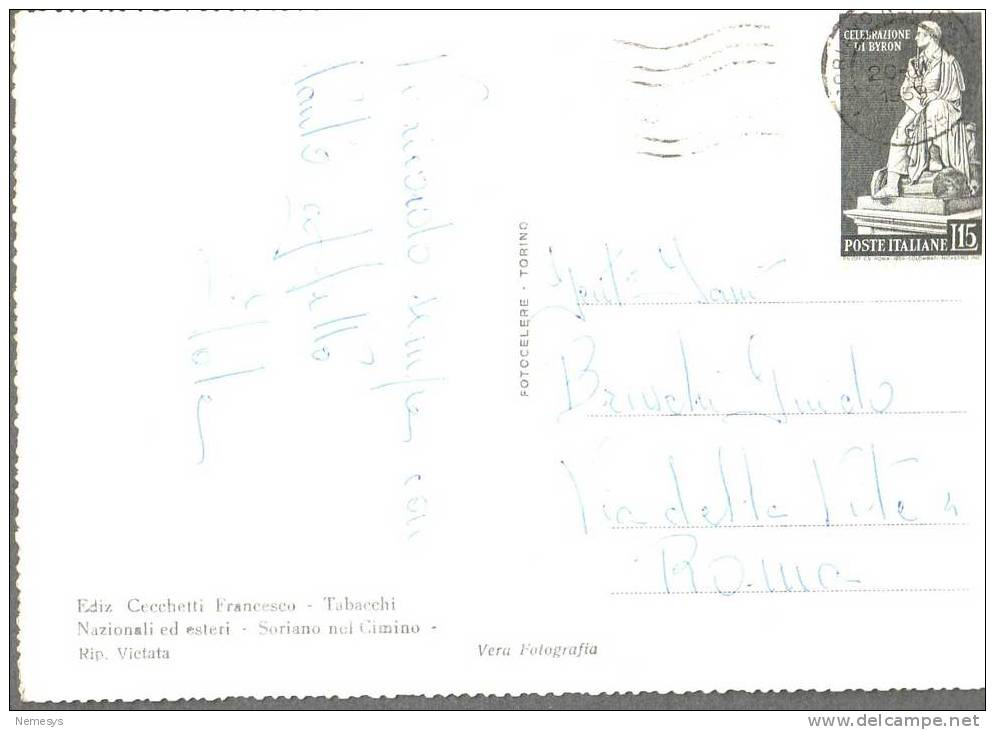 1959 SORIANO NEL CIMINO PANORAMA DAL MONTE CIMINO FG V SEE 2 SCAN - Viterbo
