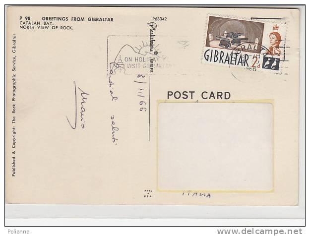PO4352B# GIBILTERRA - CATALAN BAY - DOGANA - POLIZIA - PINUP - PIN UP  VG 1966 - Gibilterra