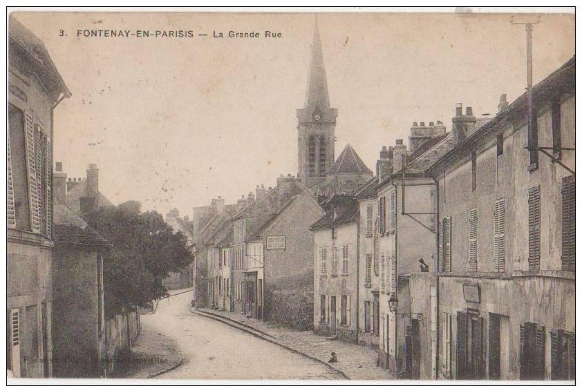 CPA 95 FONTENAY EN PARISIS La Grande Rue Eglise 1910 - France