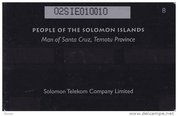Solomon Islands, SOL-08, SI$ 50, Traditional Head Gear,  Man From Santa Cruz Island - Solomon Islands