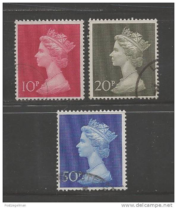 UK 1970 Used Stamp(s) QE II Decimal Values Nrs. 549-551 - Used Stamps