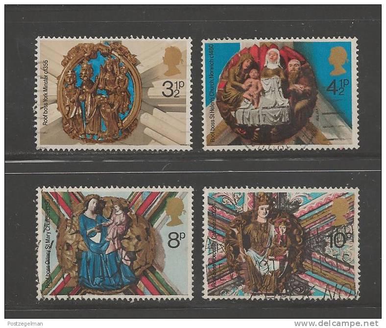 UK 1974 Used Stamp(s) Christmas Nrs. 663-666 - Gebruikt