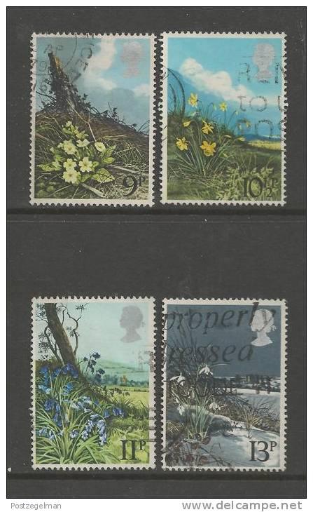 UK 1979 Used Stamp(s) Spring Wild Flowers Nrs. 785-788 - Gebruikt