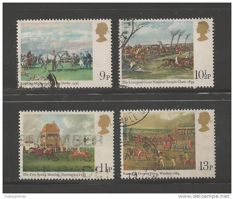 UK 1979 Used Stamp(s) Paintings Horse Racing Nrs. 793-796 - 1952-.... (Elizabeth II)